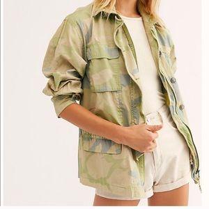 NWT Free People camo print jacket - XS